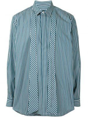 Niebieska koszula bawełniana z długimi rękawami Songzio