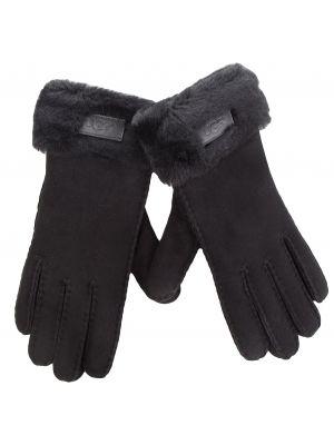 Skórzany rękawiczki zamsz czarny Ugg