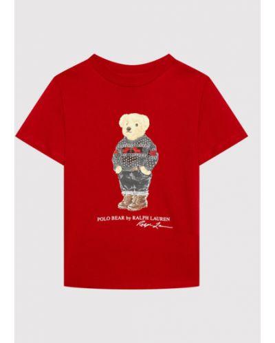 T-shirt - czerwona Polo Ralph Lauren