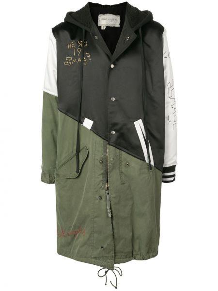 Długa kurtka z kapturem czarna Greg Lauren