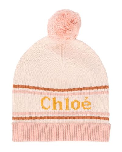 Różowa czapka wełniana Chloé Kids