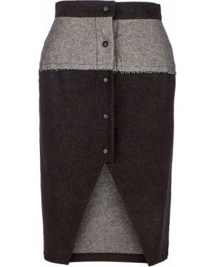 Джинсовая юбка с вырезом Be Main