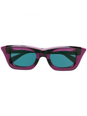 Прямые фиолетовые солнцезащитные очки квадратные Kuboraum