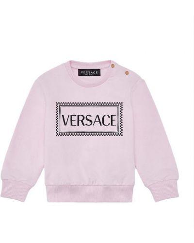 Miękki różowy z rękawami bluzka Versace