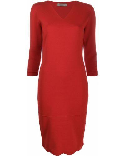 Приталенное вязаное платье с рукавом 3/4 на молнии D.exterior