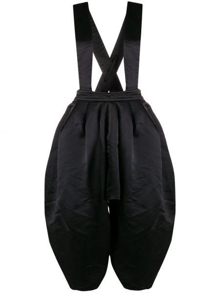Черные с завышенной талией шорты свободного кроя Comme Des Garçons Girl