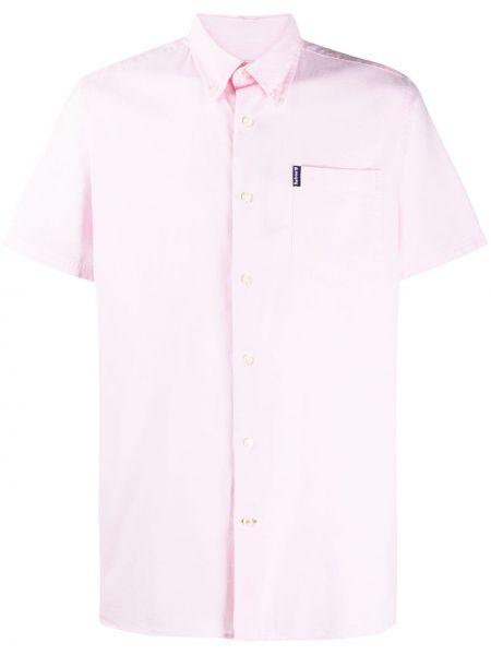Koszula krótkie z krótkim rękawem Oxford jasnoróżowy Barbour