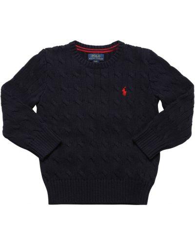 Bawełna bawełna sweter z haftem Ralph Lauren