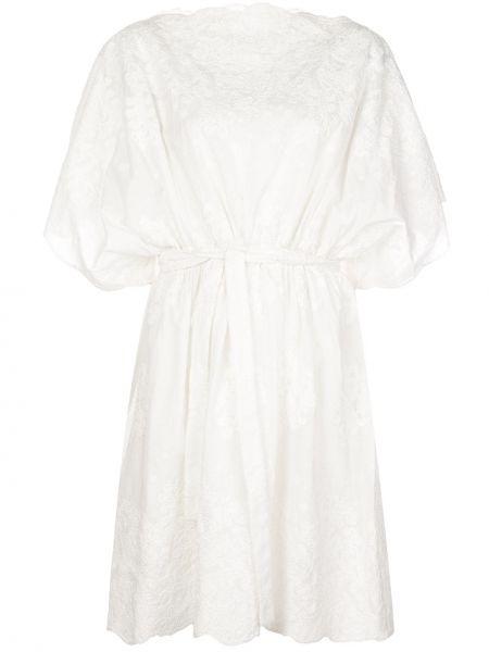 С рукавами белое платье мини свободного кроя Natori