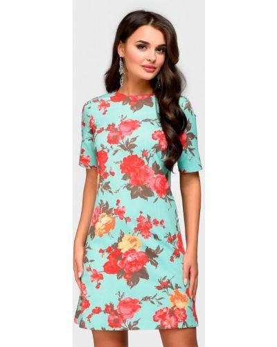 Платье бирюзовый осеннее 1001dress