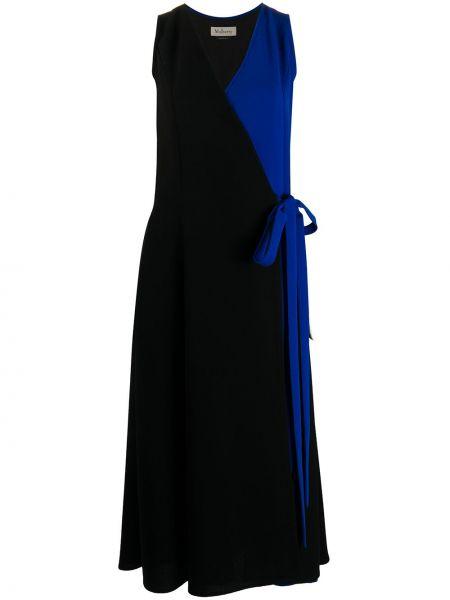 Платье с запахом - черное Mulberry