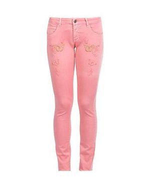 Прямые джинсы расклешенные розовый Patrizia Pepe