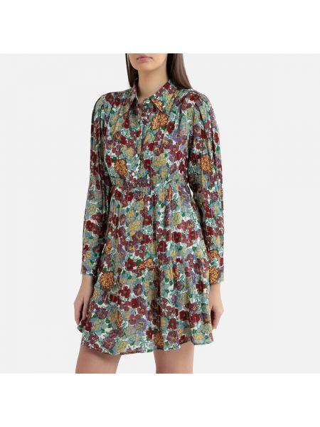 Платье мини на пуговицах с цветочным принтом La Redoute