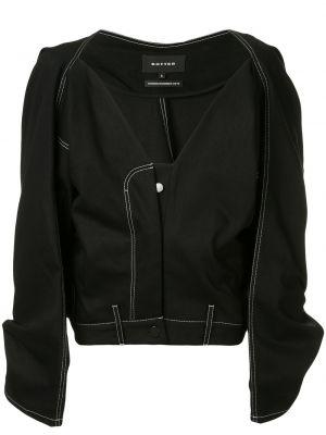 С рукавами хлопковая черная куртка свободного кроя Botter