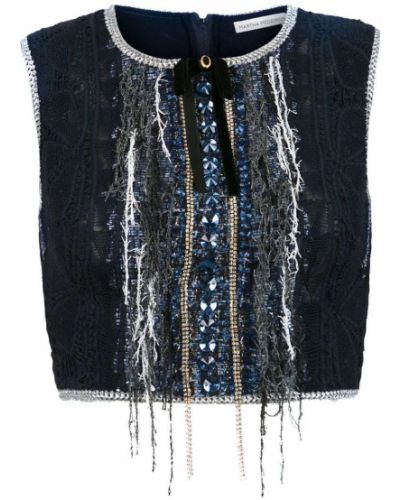 Блузка без рукавов - синяя Martha Medeiros