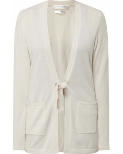 Biały sweter z dekoltem w serek Joseph Janard