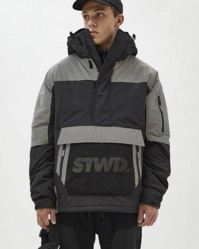 Черная утепленная куртка Pull&bear