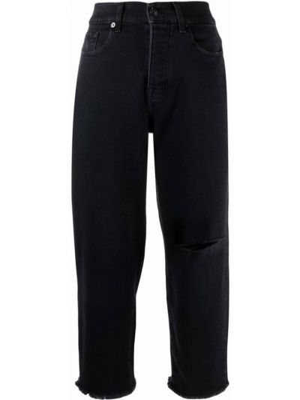Черные джинсы из эластана 7 For All Mankind
