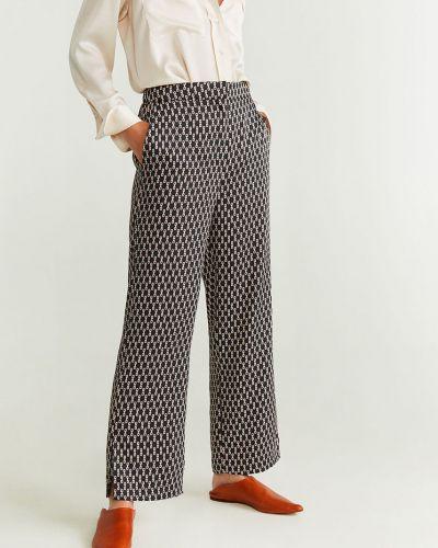 Свободные брюки с карманами с завышенной талией Mango