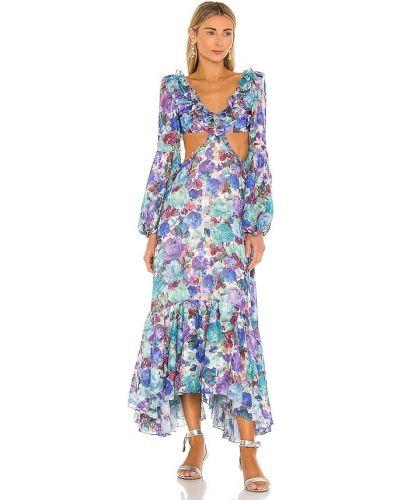 Пляжное синее купальное платье с подкладкой Patbo