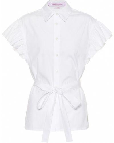 Блузка с рюшами батник Carolina Herrera