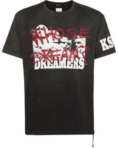 Czarna t-shirt z printem Ksubi