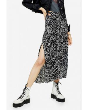 Плиссированная юбка черная турецкий Topshop