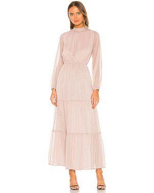 Платье макси розовое с поясом Minkpink