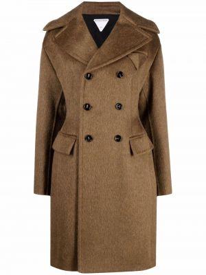Шерстяное пальто - коричневое Bottega Veneta