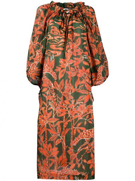 Платье миди с цветочным принтом с рукавами Lautre Chose
