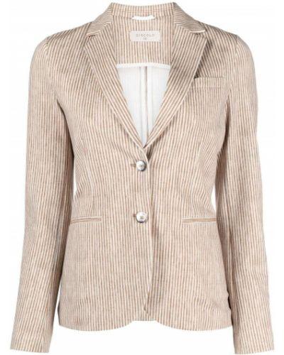 Удлиненный пиджак в полоску с воротником на пуговицах Circolo 1901