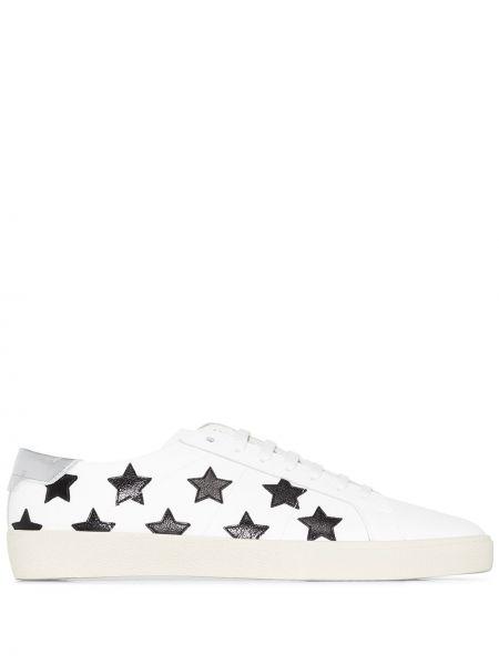 Klasyczny biały włókienniczy sneakersy Saint Laurent