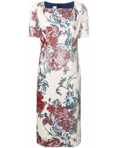 Платье миди с пайетками с цветочным принтом Antonio Marras