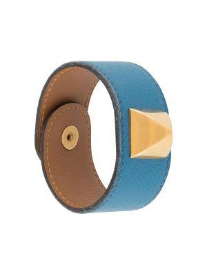 Niebieska bransoletka skórzana Hermes