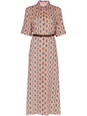 С рукавами платье на пуговицах с воротником Evi Grintela