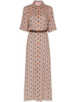 Sukienka długa z printem vintage Evi Grintela