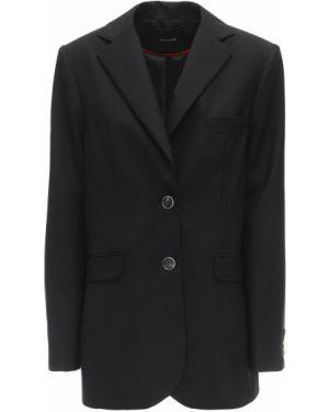 Czarna kurtka wełniana Lesyanebo