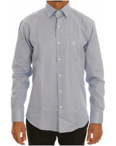 Szara koszula slim Roberto Cavalli