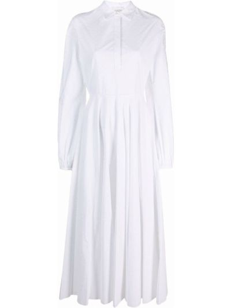 Платье макси с длинными рукавами - белое Giambattista Valli
