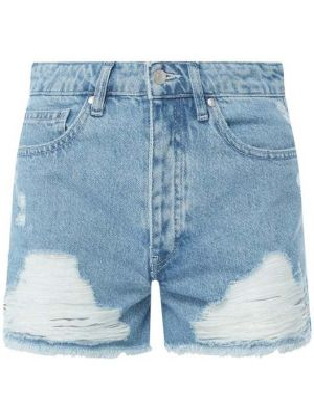 Dżinsowe szorty z paskami wełniany Review
