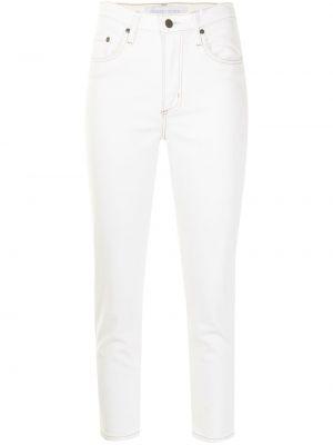 Зауженные белые укороченные джинсы на молнии Nobody Denim