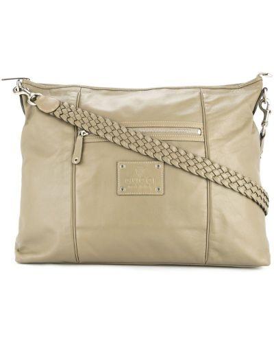 Большая сумка серая на плечо Gucci Vintage