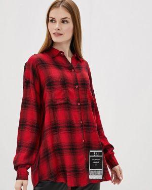 Блузка с длинным рукавом красная Sh