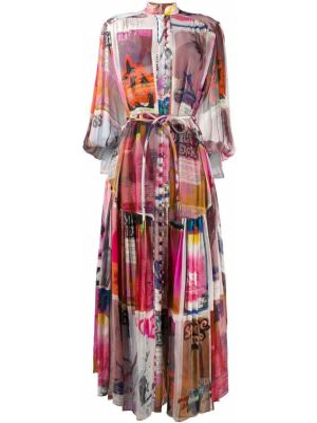 Платье на пуговицах шифоновое Zimmermann