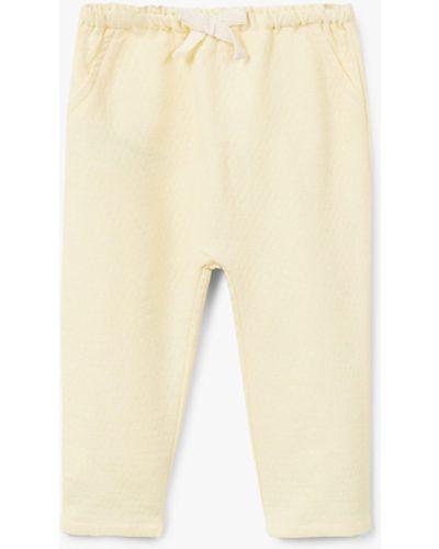 Желтые брюки Mango Kids