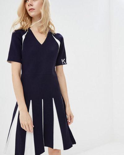 Синее платье Karl Lagerfeld