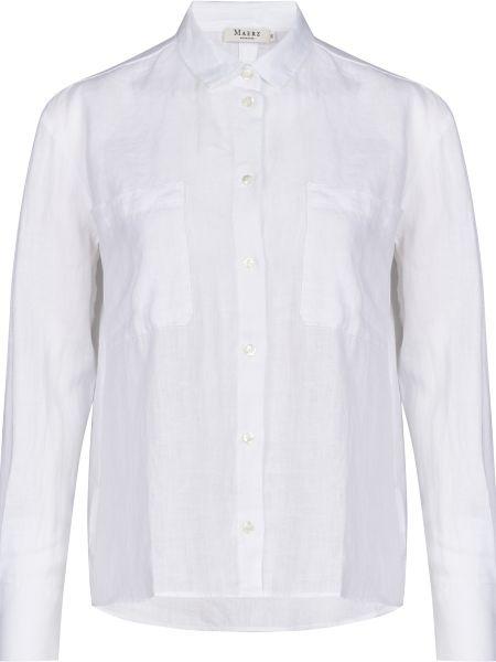 Белая рубашка на пуговицах Maerz