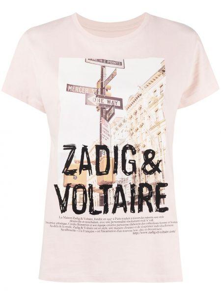 Прямая с рукавами футболка с вырезом Zadig&voltaire