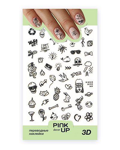 Наклейка для ногтей розовый Pink Up