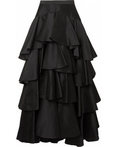 Шелковая юбка макси - черная Giambattista Valli
